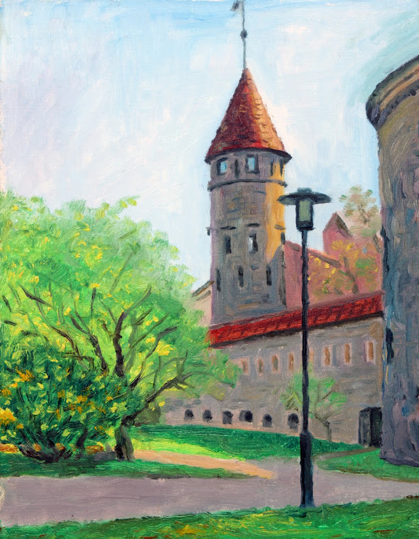 10.Castle of the Oleviste Church,oil on canvas,35x27cm,Estonia 2009