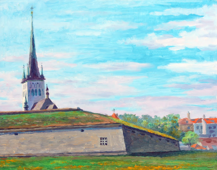 6.Mediaval water supplu building,oil on canvas,46x38 cm,Estonia 2009