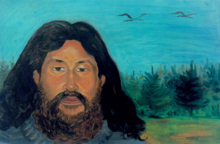 SELF PORTRAIT,OIL ON CANVAS,40X60 CM,MONGOLIA 2009