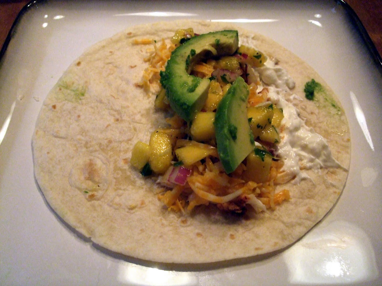Tales from a racey kitchen blackened fish tacos with for Fish tacos with mango salsa