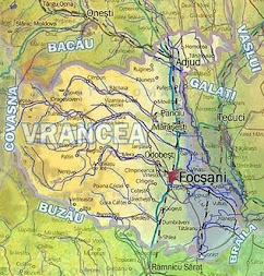 Harta Fizică Vrancea