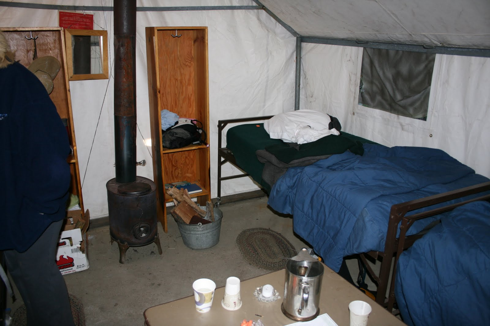 Typical setup inside 4 person tent cabin & Yosemite High Sierra Camping Trip Blog