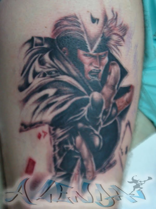 gambit x men tattoo the gallery for gt x men tattoo cyclops. Black Bedroom Furniture Sets. Home Design Ideas