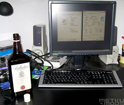Assembling a PC in a Bottle of Whisky