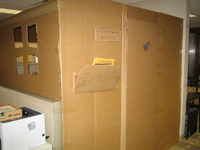 Its Financial Crisis And This is Our New Office - Cardboard Office