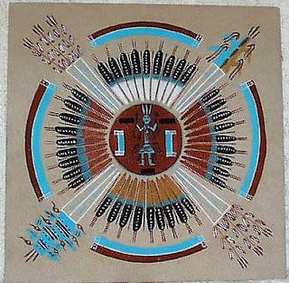 lukisan pasir navajo
