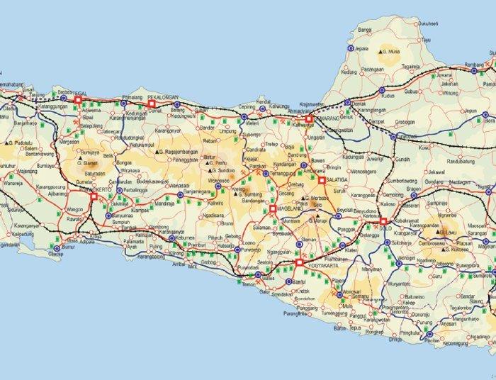 Peta Mudik Lebaran 2010