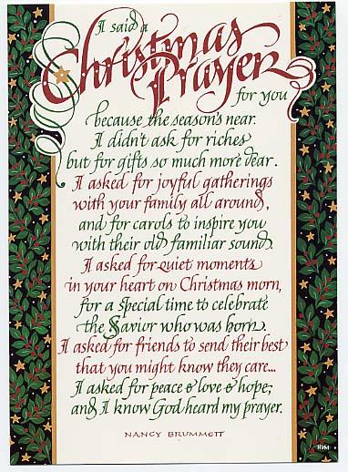 christmas prayer