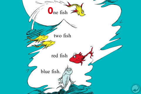 One fish two fish red fish blue fish dr seuss cool for Red fish blue fish dr seuss