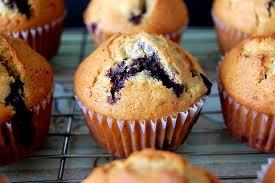 Receta de muffins de arandanos