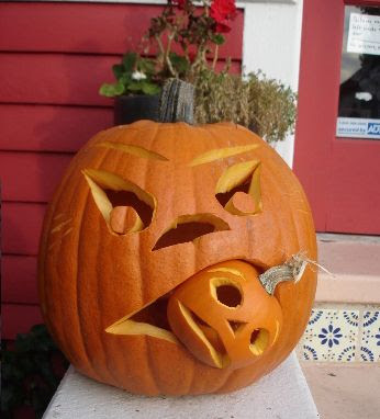 Como tallar calabazas de Halloween