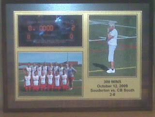 bux-mont awards 300th win custom picture plaque