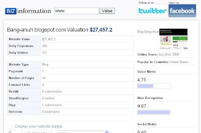 my blog worth