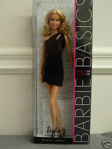 Details About BARBIE BASICS Doll Black Dress Muse Model No 1 01 001