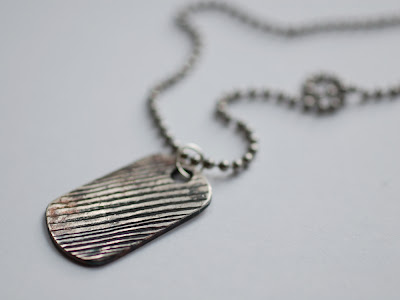 dog tag necklaces for men. My wood grain dog tag necklace