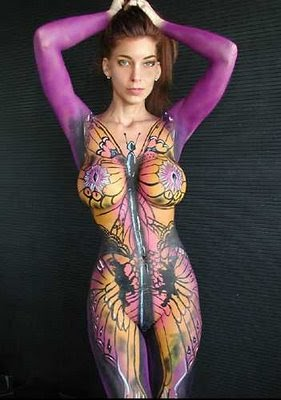 Hot Paint nelly doank: body paintings hot