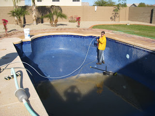 Pool service by pool savers queen creek pool service - Swimming pool tile cleaning machine ...