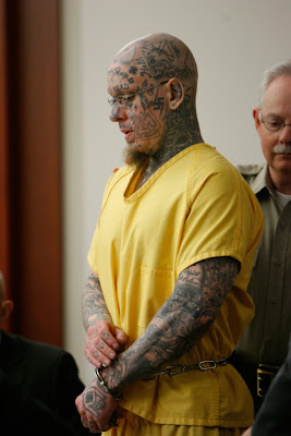 Skin Head Forehead Tattoo Prejudicial to Skin Head on Trial for Murder?
