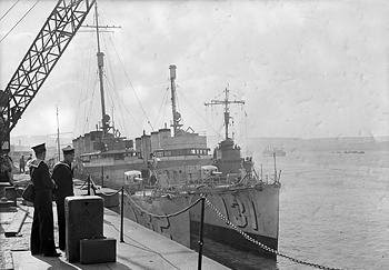 Two of the 50 World War I-vintage US destroyers lent to the UK. Had Britain not prevailed in the Battle, Lend Lease would have been a dead issue