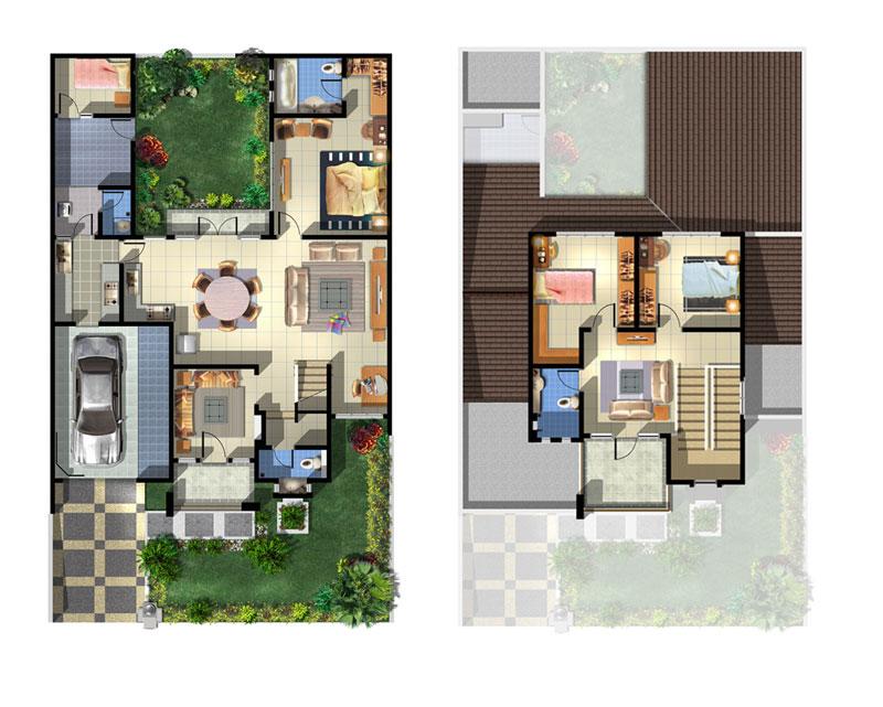 Inilah inspirasi Model Rumah Minimalis Type 70 Tingkat 2 Lantai 2015 yang fungsional