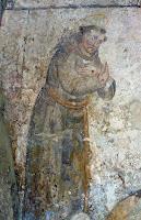 St François, Fresque du couvent des Capuchos do Corcho, Sintra, Portugal