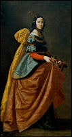 Isabel de Portugal Zurbarán 1640, óleo sobre lienzo, 184 x 98 cm