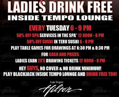 Las Vegas Hilton Free Drinks For Girls