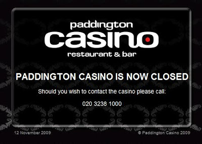 Paddington Casino - Closed 12 November 2009