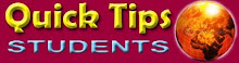 QUICK TIPS STUDENTS IPT