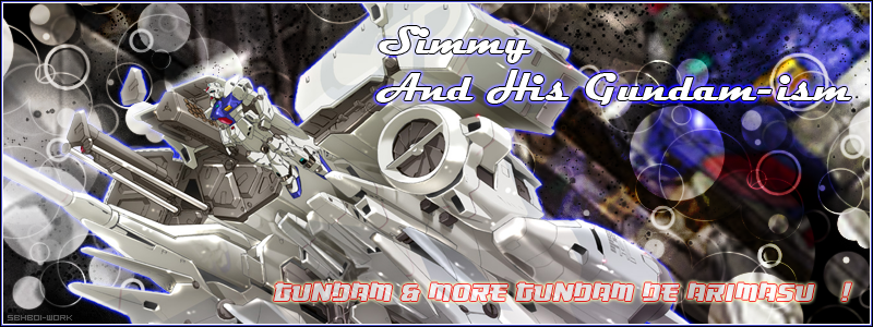 Simmy and his Gundam-ism!