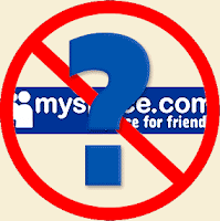 Question say no to MySpace logo