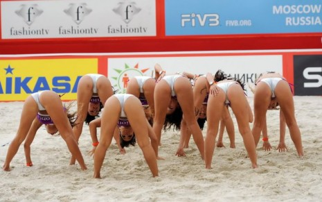 Women Beach Volleyball Cheerleaders