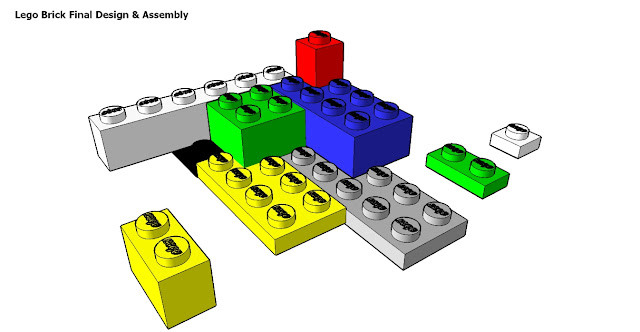 Saturday's SketchUp: First Steps - A Lego brick