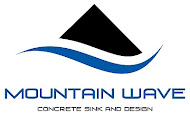 Mountain Wave Concrete Sink and Design