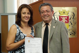 Vereador Luiz Santos homenageia Sonia Vrubleski
