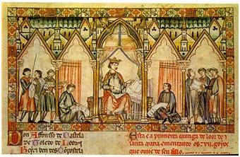 Alfonso X. La 1ª Guerra de Granada Miniaatura+de+las+siete+partidas+de+AlfonsoX+el+Sabio