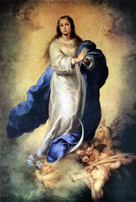 by Bartolomé Esteban Murillo, Immaculate Conception, 1665-70, Oil on canvas, 206 x 144 cm, Museo del Prado, Madrid