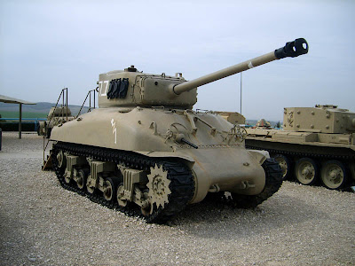 Tanque Sherman M50 original - Israel