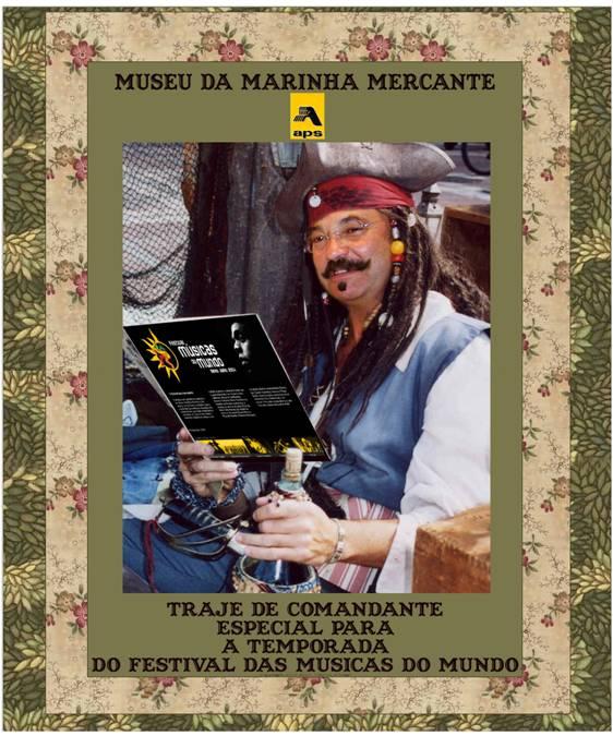Museu Marinha Mercante - Traje de Comandante especial para temporada do FMM