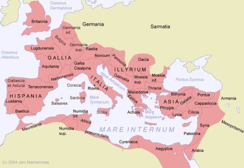 Peak of the Roman Empire - 180 A.D.