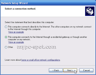 Network Setup Wizard di Windows XP
