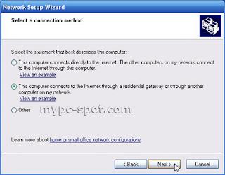 Network Setup Wizard di Windows XP