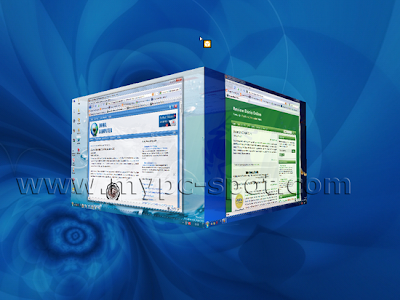 Desktop 3D Kubus di Zoom Out