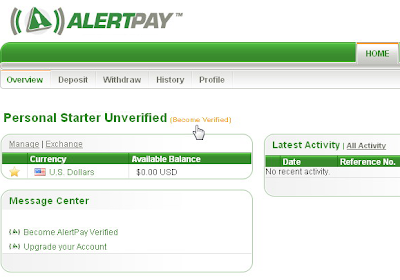 Become Verified AlertPay