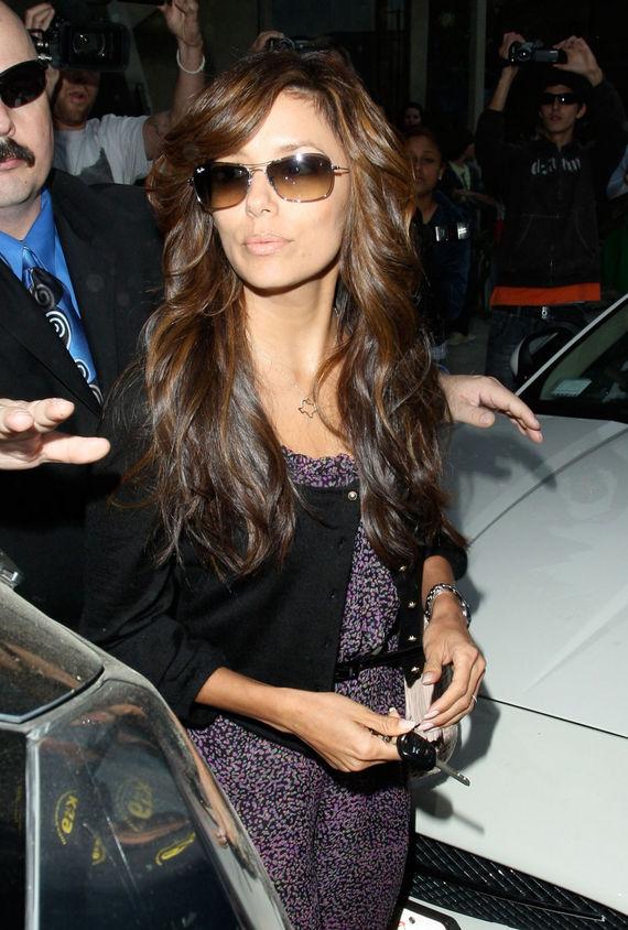 eve longoria hairstyle. eva longoria hair up styles.