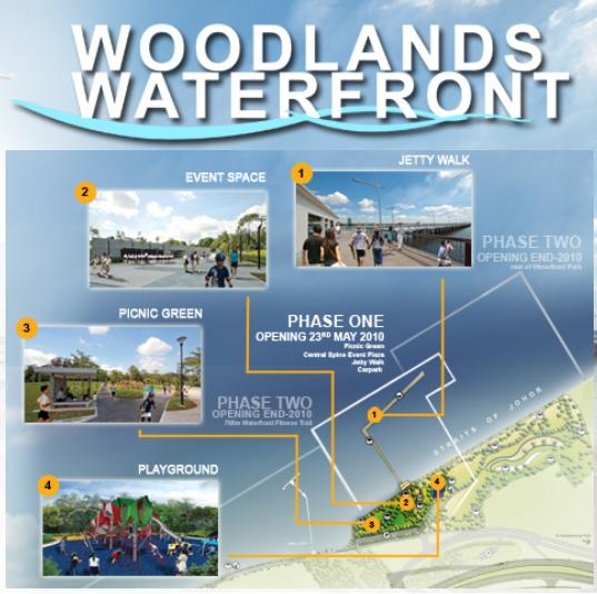 Woodlands Waterfront promenade - a new seashore park