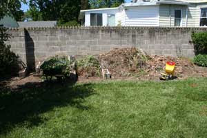 How We Built Our Flower and Vegetable Beds: Compost Pile