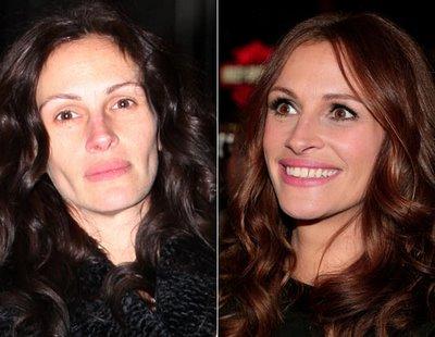 Atriz Julia Roberts sem maquiagem