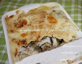 Lasagne con radicchio e salsiccia
