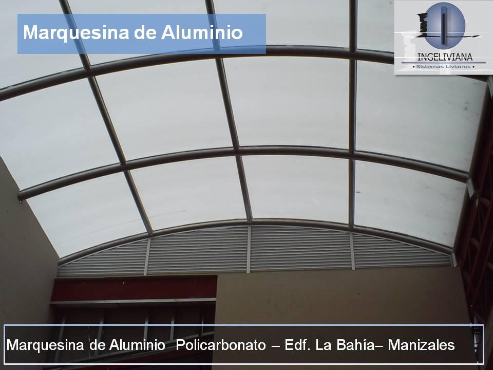 Ingeliviana s a s aluminio acero vidrio marquesinas - Vidrio de policarbonato ...
